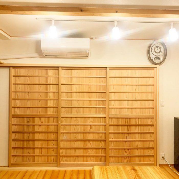 木製の建具を取り付けました。温かみがあっていやされます~(^▽^)/