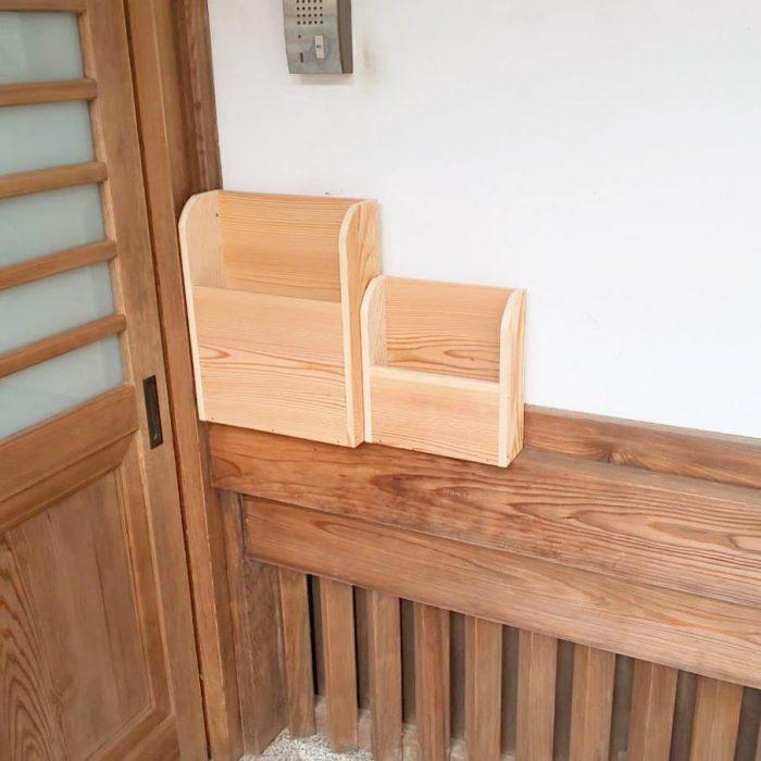木製ポストを作りました!この様なご相談もお気軽にお問い合わせ下さい。